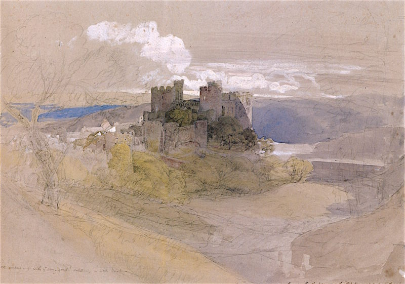 Conwy Castle at Sunset   Samuel Palmer   oil painting