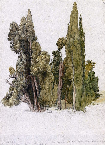 The Cypresses at the Villa dEste | Samuel Palmer | oil painting
