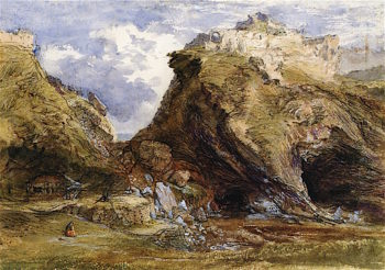 View at Tintagel | Samuel Palmer | oil painting