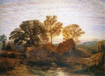 The Watermill | Samuel Palmer | oil painting