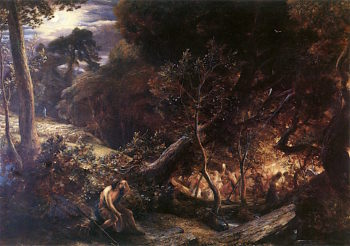 The Dell of Comus | Samuel Palmer | oil painting