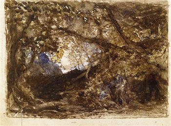 The Brothers in Comus Lingering under the Vine | Samuel Palmer | oil painting