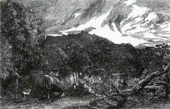 The Weary Ploughman | Samuel Palmer | oil painting