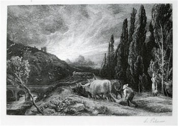 The Early Ploughman | Samuel Palmer | oil painting