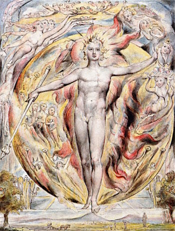 The Sun at The Eastern Gate (LAllegro) | William Blake | oil painting