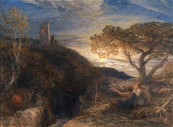 The Lonely Tower (first version) | Samuel Palmer | oil painting