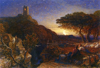 The Lonely Tower | Samuel Palmer | oil painting