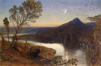 Classical River Scene | Samuel Palmer | oil painting