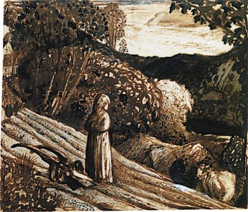 Girl Standing | Samuel Palmer | oil painting
