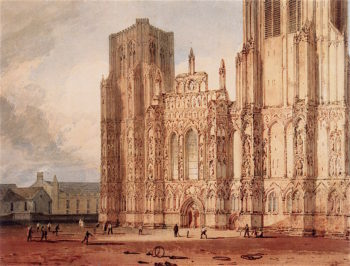 West Front of Wells Cathedral | Joseph Mallord William Turner | oil painting
