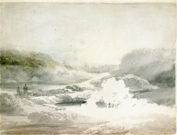 View over the Lake wt Stourhead (study) | Joseph Mallord William Turner | oil painting