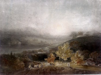 View over the Lake wt Stourhead | Joseph Mallord William Turner | oil painting