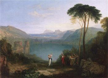 Lake Avernus -  Aeneas and the Cumaean Sibyl | Joseph Mallord William Turner | oil painting