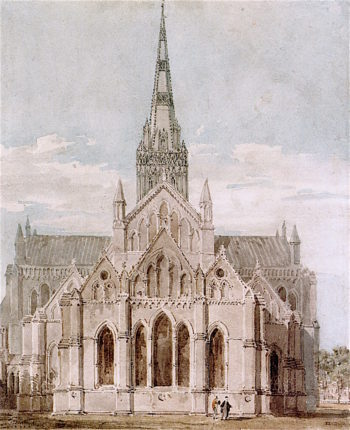 Salisbury Cathedral from the East | Joseph Mallord William Turner | oil painting