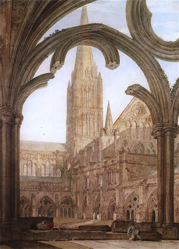 Salisbury Cathedral from the South Side of the Cloister | Joseph Mallord William Turner | oil painting