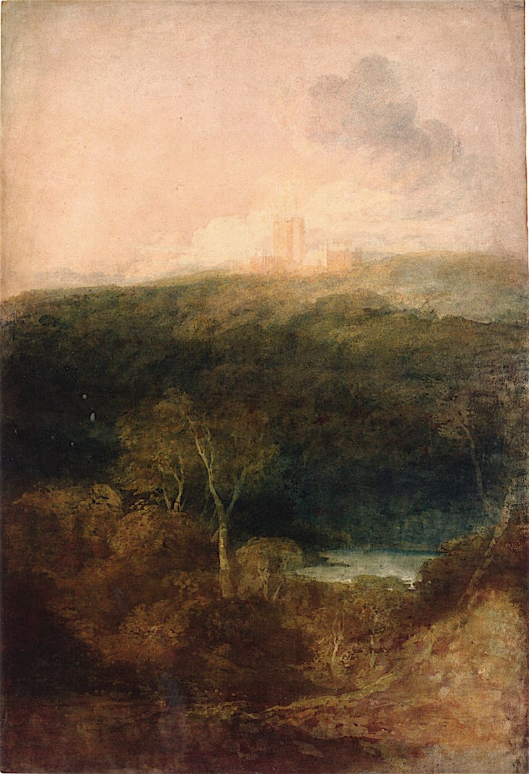 An Unfinished View of Fonthill Abbey