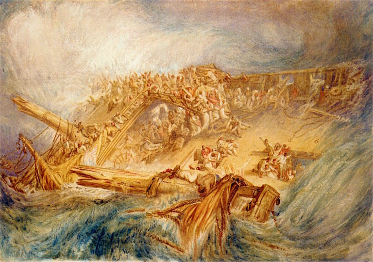 Loss of an East Indiaman   Joseph Mallord William Turner   oil painting