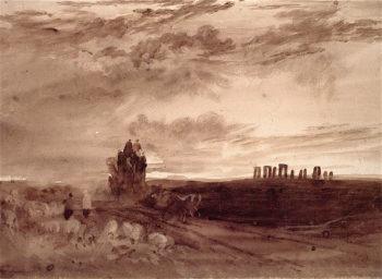 Stonehenge at Sunset   Joseph Mallord William Turner   oil painting
