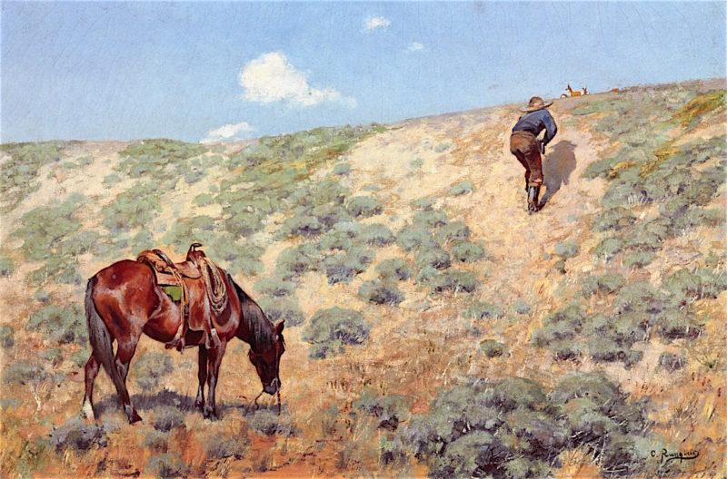 Stalking Antelope | Carl Rungius | oil painting