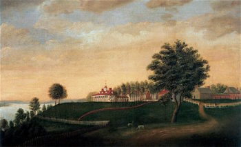 The East Front of Mount Vernon | Edward Savage | oil painting