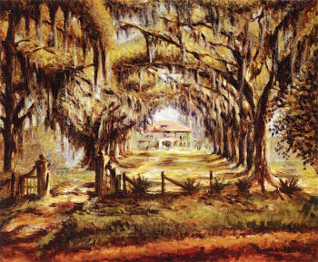 Boone Hall Plantation | Edwin Harleston | oil painting