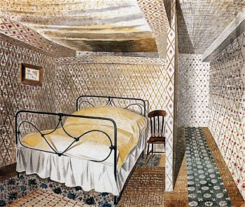 Farmhouse Bedroom | Eric Ravilious | oil painting