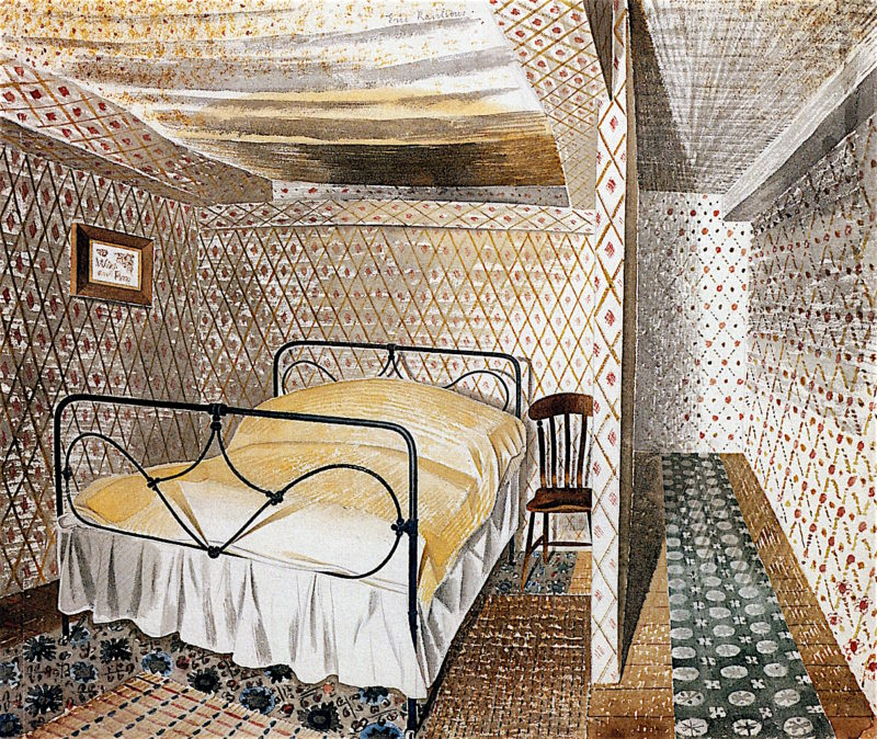 Farmhouse Bedroom | Eric Ravilious | oil painting