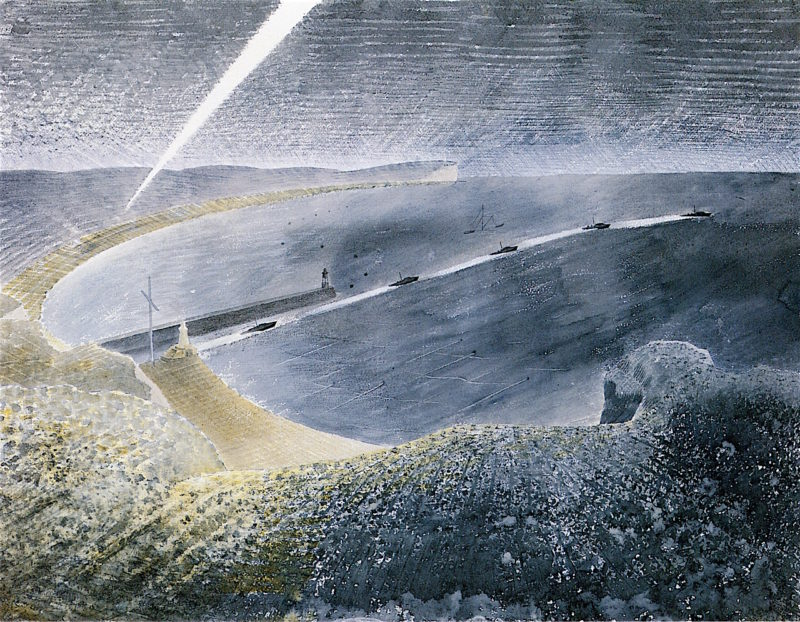 Coastal Defences   Eric Ravilious   oil painting