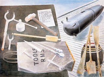 Bomb Defusing Equipment | Eric Ravilious | oil painting