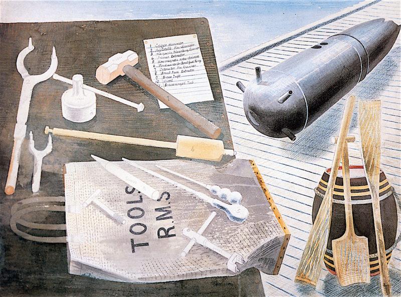 Bomb Defusing Equipment | Eric Ravilious | oil painting