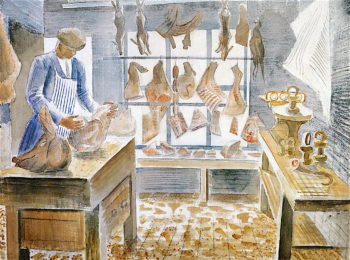 The Butchers Shop | Eric Ravilious | oil painting