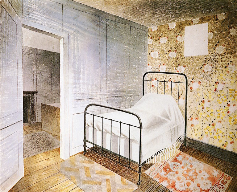 The Bedstead | Eric Ravilious | oil painting
