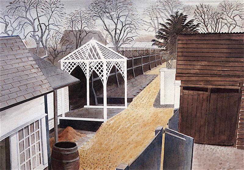 Garden Path | Eric Ravilious | oil painting