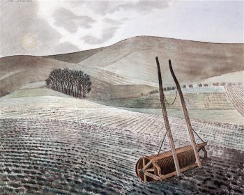 Downs in Winter | Eric Ravilious | oil painting