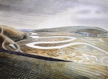 Cuckmere Haven | Eric Ravilious | oil painting