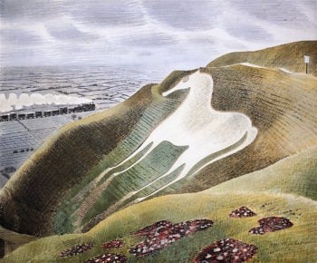 The Westbury Horse | Eric Ravilious | oil painting