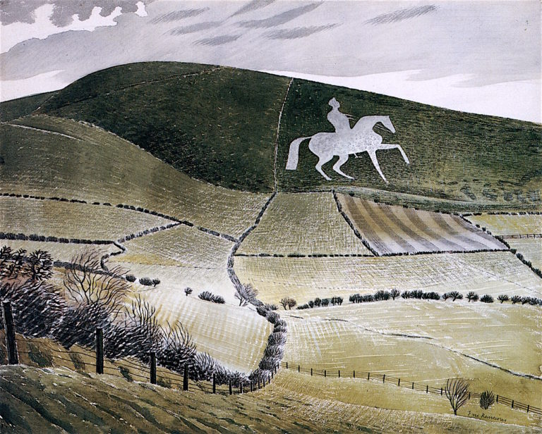 Chalk Figure nr. Weymouth | Eric Ravilious | oil painting