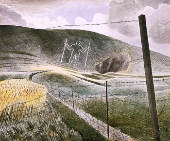 The Wilmington Giant | Eric Ravilious | oil painting