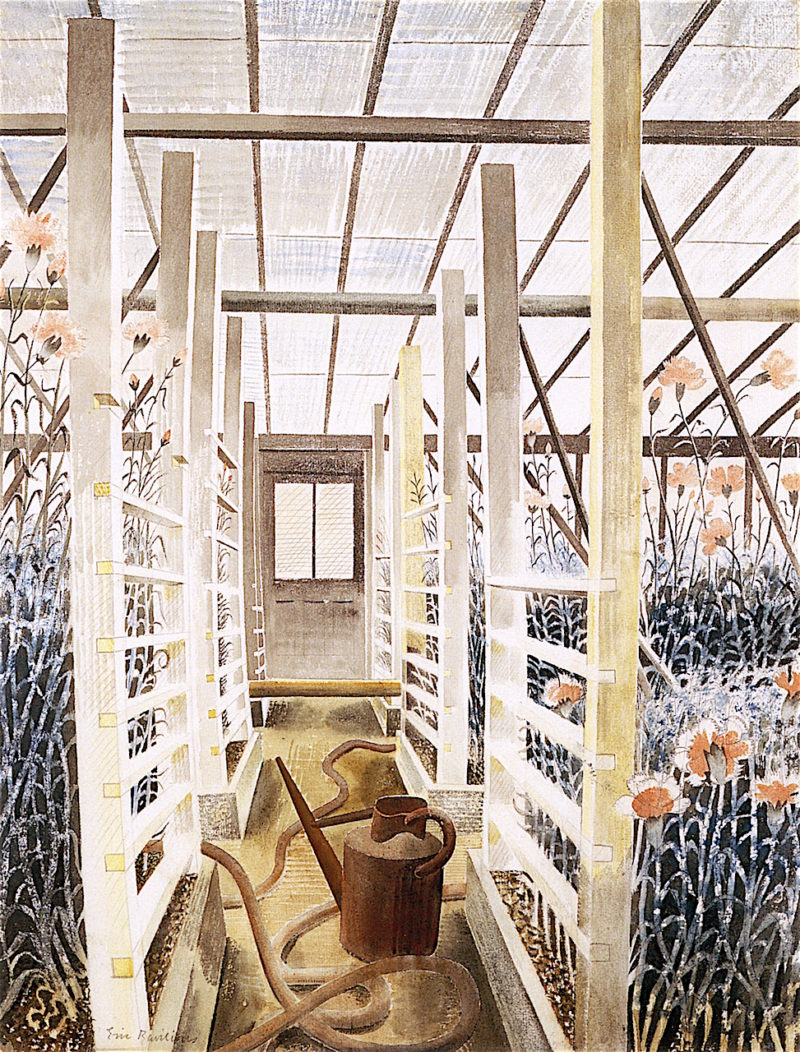 The Carnation House | Eric Ravilious | oil painting
