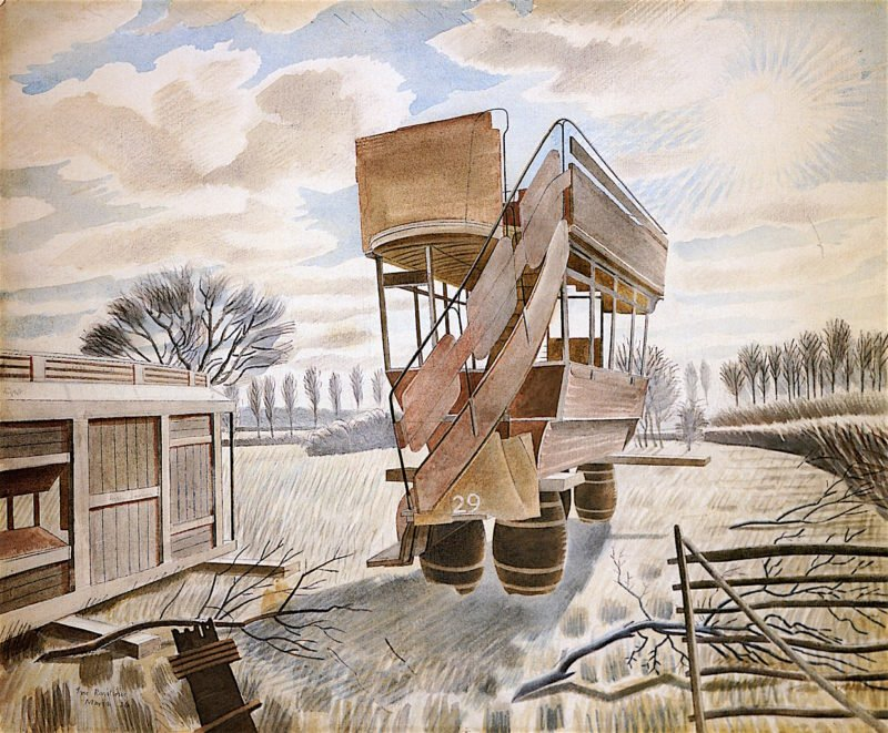 No. 29 Bus | Eric Ravilious | oil painting