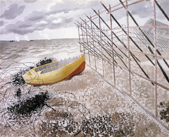 Drift Boat | Eric Ravilious | oil painting