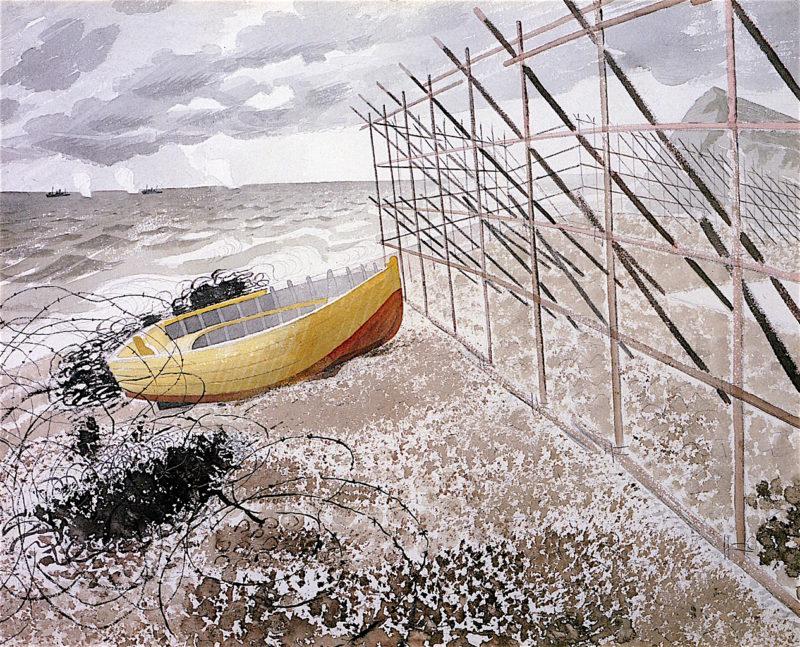 Drift Boat | Eric Ravilious | oil painting