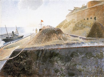 Coastal Defences | Eric Ravilious | oil painting