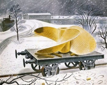 Ships Screw on a Railway Track   Eric Ravilious   oil painting