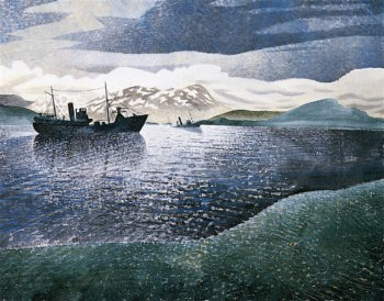Norway | Eric Ravilious | oil painting