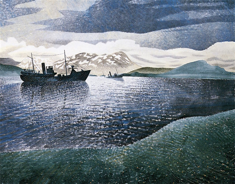 Norway   Eric Ravilious   oil painting