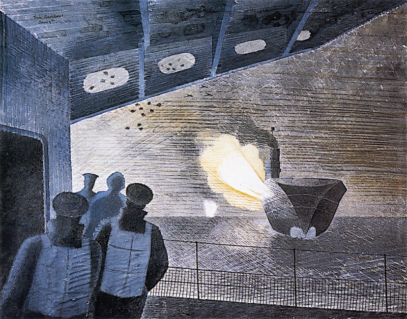 HMS Ark Royal in Action | Eric Ravilious | oil painting