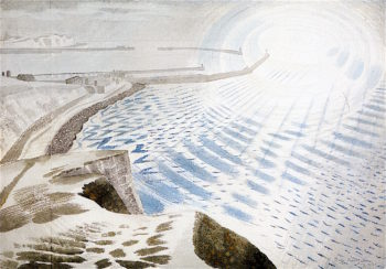 Cross Channel Shelling | Eric Ravilious | oil painting