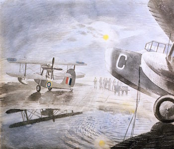 Morning on the Tarmac | Eric Ravilious | oil painting