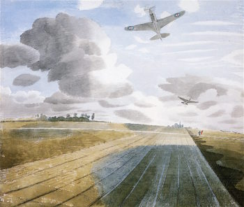 Runway Perspective | Eric Ravilious | oil painting